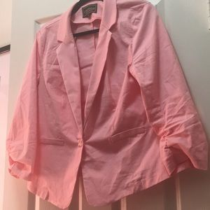 Blush Three - Quarter Sleeve Blazer